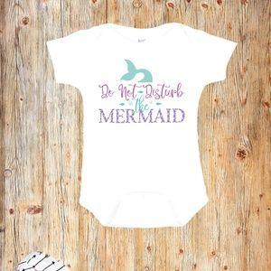 Do Not Disturb the Mermaid Baby Onesie